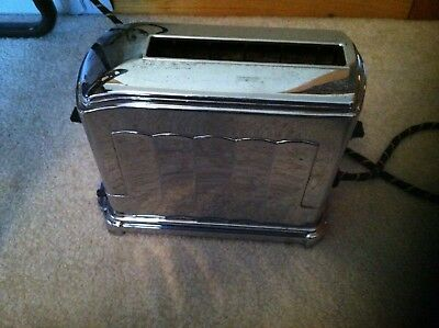 Antique  Toastmaster Chrome Toaster McGRAW ELECTRIC USA ONE SLICE MOD. 1A4