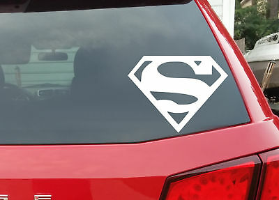 White Superman Man of Steel High Quality Removable Vinyl Decal Car Sticker