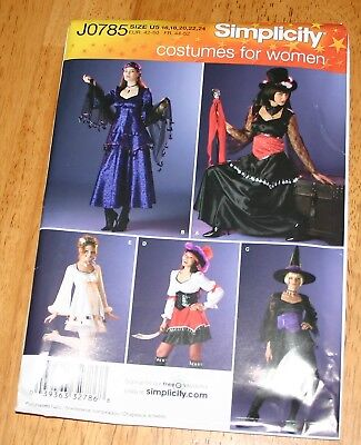 Simplicity Costume Pattern #0785 - Halloween Costumes 5 Views UNCUT - Witch +