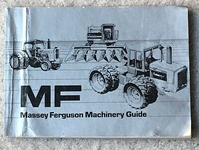 1979 MF Massey Ferguson Machinery Guide Book Specs Tractor Farm Sales Vintage