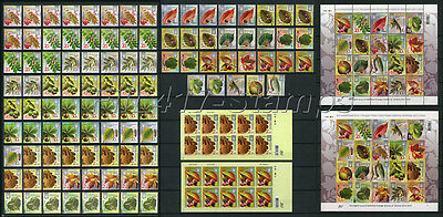 "2012-2017 Ukraine, A FULL SET ""TREE LEAVES and FRUIT""(143 different stamps)."