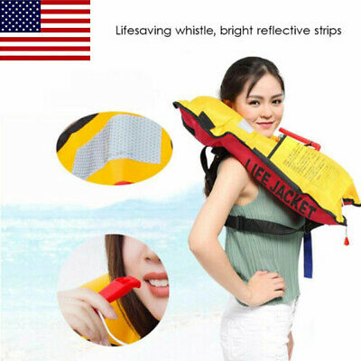 Fishing Life Jacket Swiming Life Vest Automatic Inflatable Top Rescue Vest