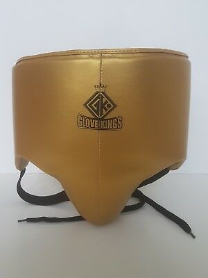 GLOVE KINGS Leather No Foul Groin Guard Protector MMA Cup Boxing Abdo Muay Thai