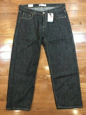 Boys Size 18H Husky Levis 550 Cobra Dark Wash Jeans Relaxed