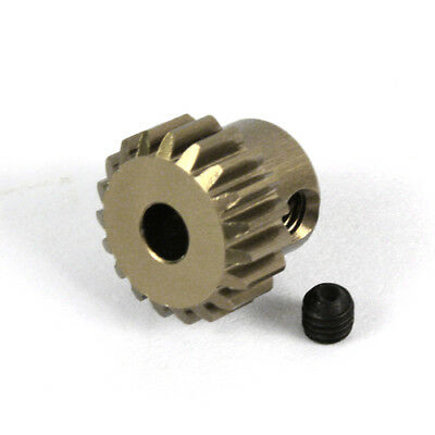18T Titanium coated aluminium 48dp pinion gear for 1:10 RC 18 tooth 48 pitch