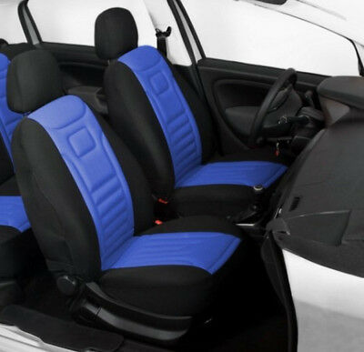 2 Blue High Quality Front Car Seat Covers Protectors For Citroen C3