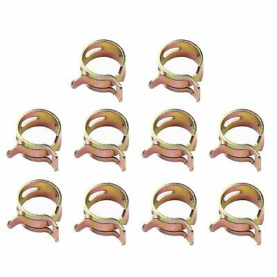 "10PCS 8mm 5/16"" inch Spring Clip Vacuum Fuel Oil Hose Line Air Tube Band Clamp"