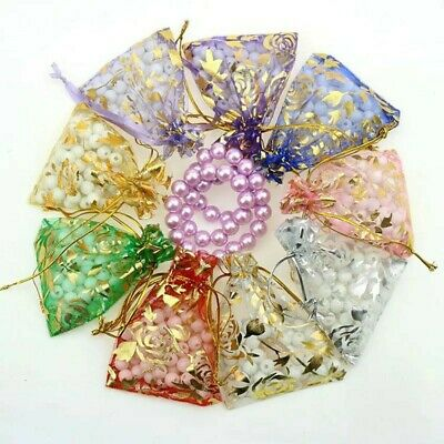 25x Gift Bags Organza Pouch Jewellery Mixed Packing Xmas Present Packaging