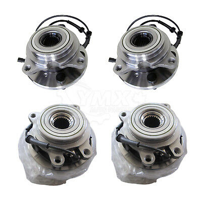 Set of 4 New Wheel Bearing & Hub Kit For Land Rover Discovery 2 FRONT + REAR