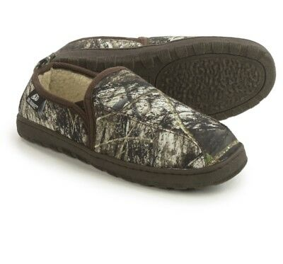 NWT MENS M&F Western Double Barrel Slippers Fleece Lined Sz 12 HOUSE SHOES