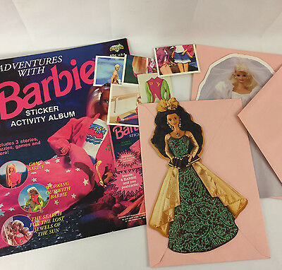 Barbie Sticker Activity Album with New Stickers Mattel Collectible Cards 1990's