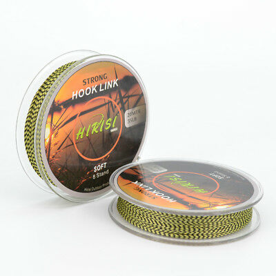 2 x Fishing Line Braided Hook Link 8 String 20m 35lb For Carp Fishing Tackle