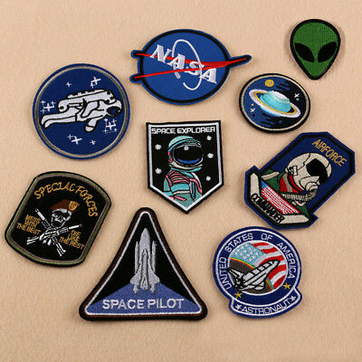 Universe Alien Space Embroidered Sew On Iron On Patch Badge Bag Fabric Applique