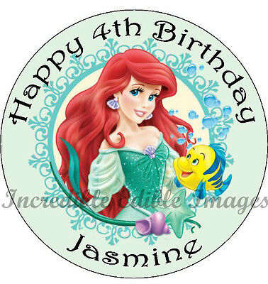 Litte Mermaid Personalised Edible Cake Toppers Party Decoration