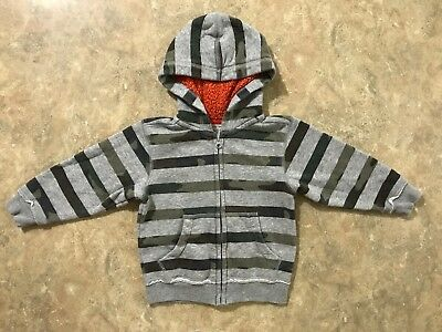 Sonoma Toddler Boys Striped Camo Zip Up Hooded Sweatshirt, Size 2T