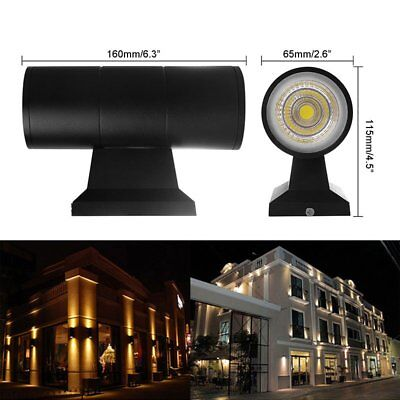 10W Waterproof Up Down COB LED Exterior Wall Light Outdoor Garden Porch Lamps