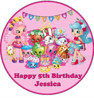 Shopkins Personalise Edible Cake Topper Party Decoration