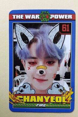 EXO The War The Power Of Music 4th Repackage Official photocard - Chanyeol A