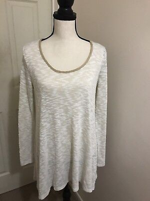 Jessica Simpson Maternity Women Long Sleeve Top Sweater Cream Sz M