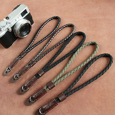 Black Mirrorless Digital Wrist Hand Strap Soft Cotton Linen Weaved Strap