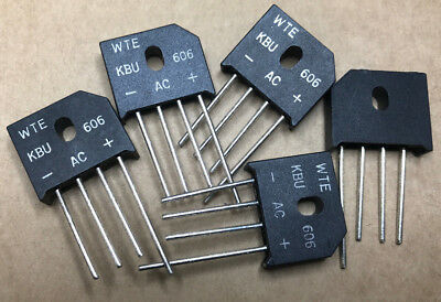 5 X KBU606  Bridge Rectifier Diode   4-Pin SIL