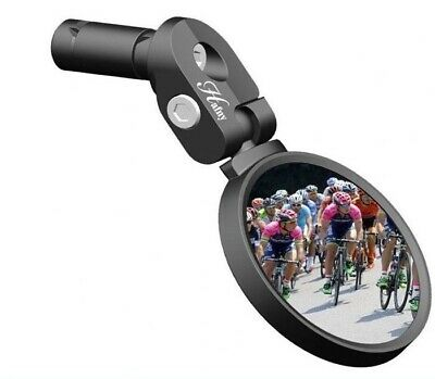Hafny HF-MR083 High-Quality Road Bicycle Drop Bar Rear View Mirror - Black
