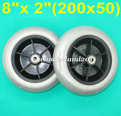 "1 pair 8""x 2""(200x50) Wheelchair Rear Caster Tires for Pride Jazzy/Jet Electric"