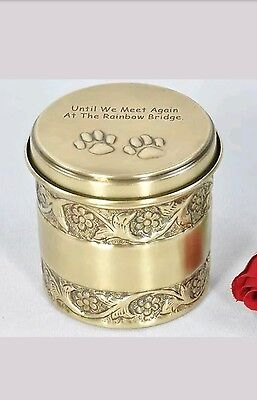 Beautiful round  pet cremation urn for Dog/Cat/Rabbit