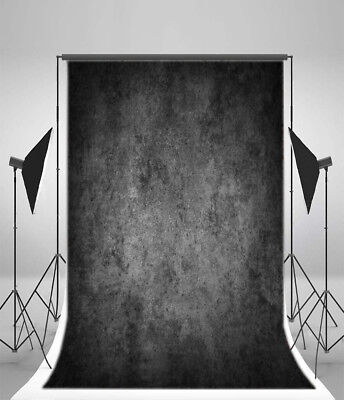 Retro Photo Studio 5x7ft Photography Background Backdrop Black Gradient Wall