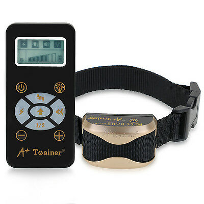 Dog Trainer E-Collar Remote Waterproof Pets Safe Shock Receiver Training -Collar