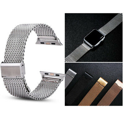 Stainless Steel Strap Band Deployment Connector for Apple Watch iWatch 38mm 42mm