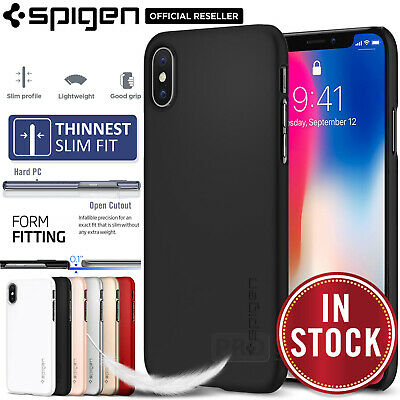 iPhone X Case,Genuine SPIGEN Ultra Thin Fit Slim EXACT-FIT Hard Cover for Apple