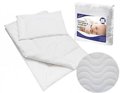 BABY QUILTED DUVET 120x90 cm & PILLOW 100% COTTON COT FILLING SET
