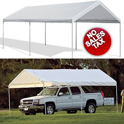 STEEL FRAME Canopy 10 x 20 Shelter Portable Carport Car Garage Cover ...