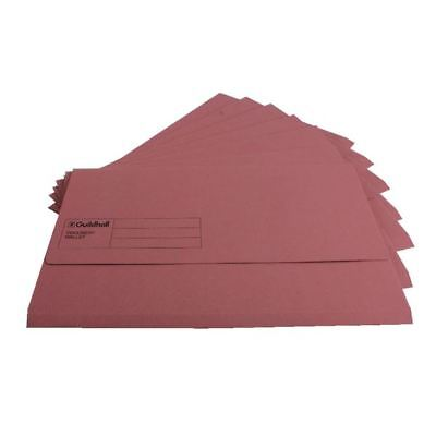 Guildhall Foolscap Pink Document Wallet Pack of 50 GDW1-PNK [GH14032]