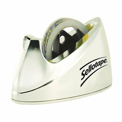 Sellotape Dispenser Chrome Large 575450, Sleek chome finish [SE04640]
