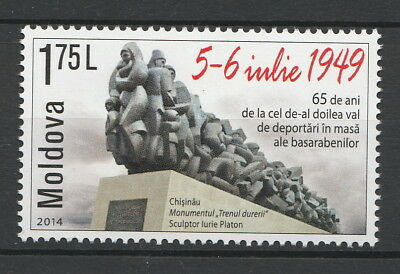 Moldova 2014 Second Wave of Mass Deportations from Bessarabia MNH Stamp