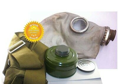 Size-2.Dark stripes Soviet Russian Military Gas mask GP-5.Grey rubber.Full set.