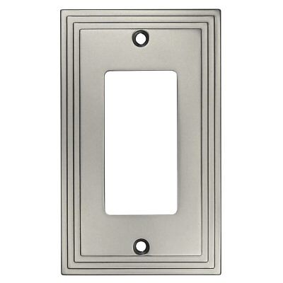 Cosmas 25000-SN Satin Nickel Single GFI / Decora Rocker Wall Switch Plate Cover