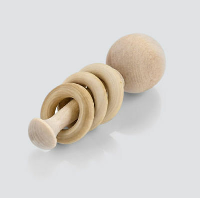 Wooden Baby Rattle-Montessori Inspired Toy