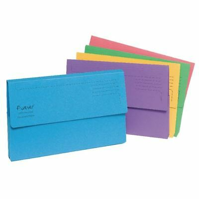 Guildhall Forever Assorted Bright Manilla Foolscap Document Wallet [GH22880]