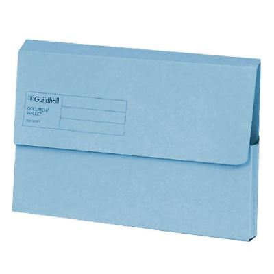 Guildhall Foolscap Blue Document Wallet Pack of 50 GDW1-BLU [GH14029]