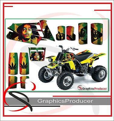 Yamaha Banshee 350 Graphics Full Decals Set Custom Design Bob Marley Theme
