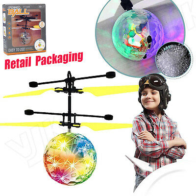 Flying RC Electric Ball LED Flashing Light Aircraft Helicopter Induction Toys