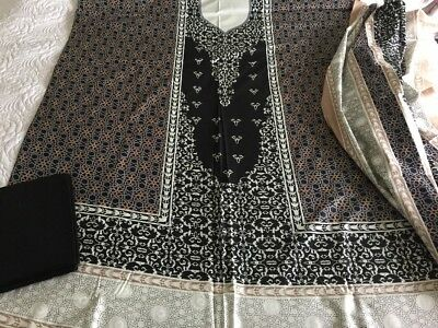 Pakistani designer Taj Cambric Cotton COLLECTION UN-STITCHED SHALWAR KAMEEZ SUIT