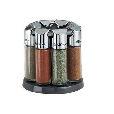 Emsa Gallery Spice Carousel Spice Rack Spice Rack Spice Glass with 8 Spices
