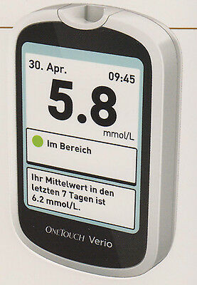 OneTouch Verio Blood Glucose Meter mmol / L Plus Test Strips - NIP V