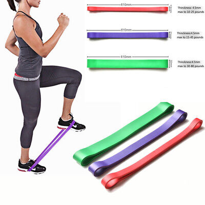 New Resistance Exercise Heavy Duty Bands Tube Home Gym Fitness Natural Latex