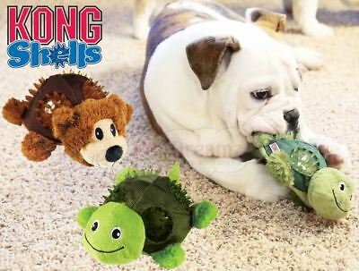 Kong Shells - Multi Texture Dog Puppy Squeaky Toy - Helps Clean Teeth & Gums
