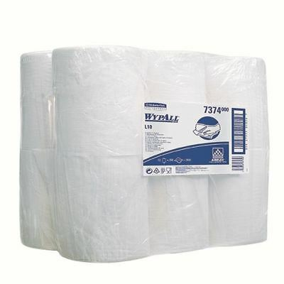 Wypall L10 Wipers MiniCentrefeed White Roll 1 Ply (Pack of 12) 7374 [KC00344]
